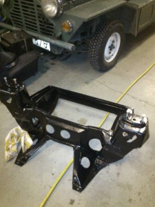 Front subframe with soem new paint on it.