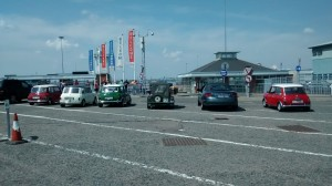 Here are the five Minis that were on the ferry to England.