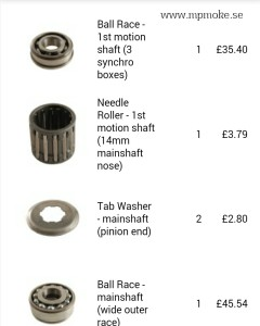 gearbox parts