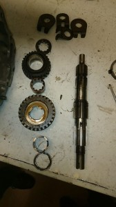 The main axle in pieces